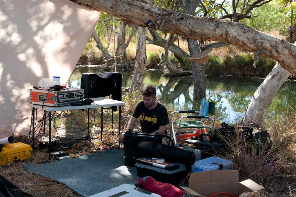 Jeremy working in remote Arnhem Land. Photo: Benjamin Warlngundu Ellis Bayliss