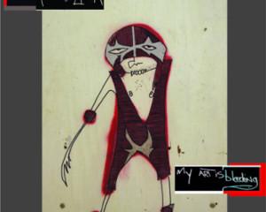 'My Art Is Bleeding'. Artwork by David Collins.